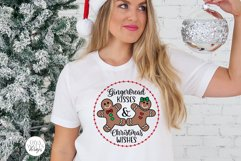 Gingerbread Kisses & Christmas Wishes SVG | Winter Design Product Image 4