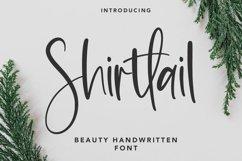 Web Font Shirttail - Handwritten Font Product Image 1