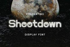 Web Font Shootdown - Display Font Product Image 1