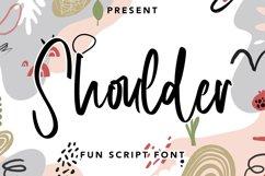 Shoulder - Fun Script Font Product Image 1