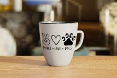 Peace Love Dogs svg, Dog lover svg Product Image 3