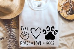 Peace Love Dogs svg, Dog lover svg Product Image 4