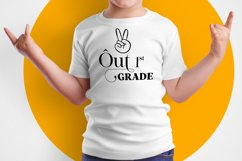 Peace Out First Grade SVG, Graduation svg Product Image 2
