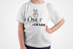 Peace Out First Grade SVG, Graduation svg Product Image 3