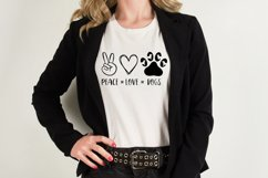 Peace Love Dogs svg, Dog lover svg Product Image 5