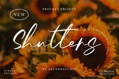 Shutters - Beauty Handwritten Font Product Image 1