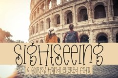 Web Font Sightseeing - A Quirky Handlettered Font Product Image 1