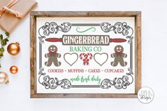 Gingerbread Baking Co SVG | Christmas / Winter Design Product Image 1