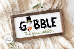 Gobble 'Til You Wobble SVG | Thanksgiving Turkey Design Product Image 5