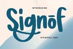 Signof - A Playfull Font Product Image 1