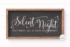 Silent Night Holy Night SVG | Christmas Sign Design Product Image 1