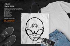 Alien Head Simple Silhouette Product Image 4