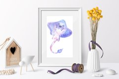 Watercolor Underwater Clipart - PNG Files Product Image 2
