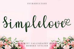 Simplelove - Script Calligraphy Font Product Image 1