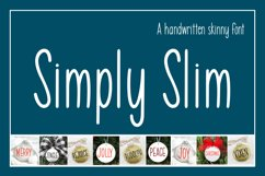 Simply Slim - A handwritten skinny font Product Image 2