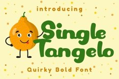 Single Tangelo - Quirky Bold Font Product Image 1