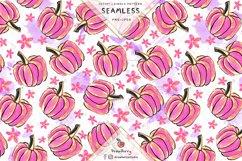Pink Pumpkin Seamless Pattern SP049 Product Image 1