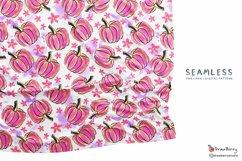 Pink Pumpkin Seamless Pattern SP049 Product Image 2