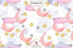 Baby Moon Seamless Pattern SP132 Product Image 2