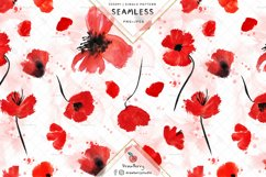 Red Poppy Seamless Pattern SP134 Product Image 1