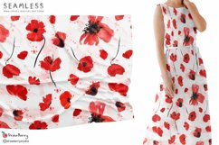 Red Poppy Seamless Pattern SP134 Product Image 2