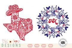SVG Texas mandala | Texas zentangle | state map bundle Product Image 1