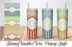 Skinny Tumbler Sublimation Vintage Stripe Design Product Image 1