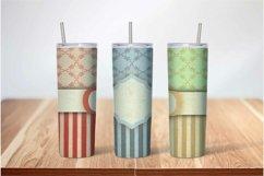 Skinny Tumbler Sublimation Vintage Stripe Design Product Image 2