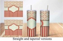 Skinny Tumbler Sublimation Vintage Stripe Design Product Image 3