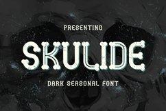 Web Font Skulide - Halloween Display Font Product Image 1
