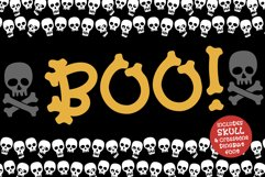A skull font full of skull and crossbone dingbats
