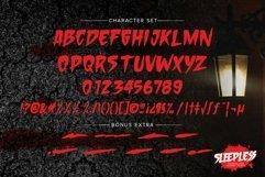 Sleepless - hand drawn Horror Brush font Product Image 3