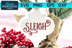 Sleigh SVG Cut File | Christmas SVG Cut File Product Image 1