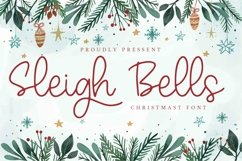 Web Font Sleigh Bells - Christmast Font Product Image 1