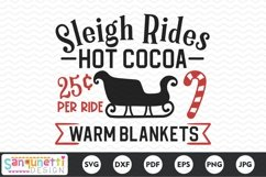 Sleigh rides and Hot Cocoa SVG Product Image 2