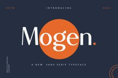 Mogen_a new sans serif typeface-Beautyful san Product Image 1