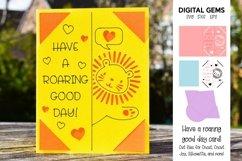 Cricut Joy Card! Lion, Have a roaring good day card design! Product Image 1