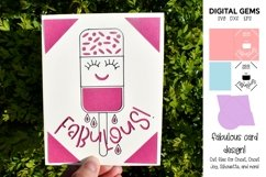 Fabulous Fab. Funny birthday card SVG Product Image 1