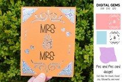 Cricut Joy Card! Mrs and Mrs wedding card design! SVG / DXF Product Image 1