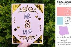Cricut Joy Card! Mr and Mrs wedding card design! SVG / DXF Product Image 1