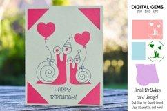 Cricut Joy Card! Snail Birthday card design! Product Image 1