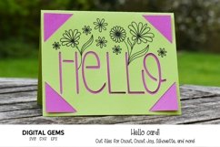 Cricut Joy Card! Hello card design! SVG / DXF / EPS Files Product Image 1
