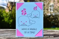 Cricut Joy Card! Have a Whale of a time card design! Product Image 2