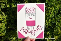 Fabulous Fab. Funny birthday card SVG Product Image 2