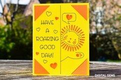 Cricut Joy Card! Lion, Have a roaring good day card design! Product Image 2