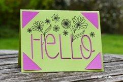 Cricut Joy Card! Hello card design! SVG / DXF / EPS Files Product Image 2