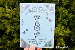 Cricut Joy Card! Mr and Mr wedding card design! SVG / DXF Product Image 2