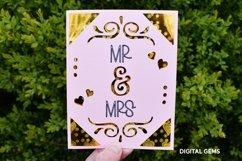 Cricut Joy Card! Mr and Mrs wedding card design! SVG / DXF Product Image 2