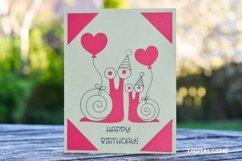 Cricut Joy Card! Snail Birthday card design! Product Image 2