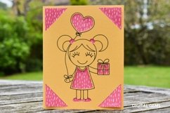 Girl birthday card! SVG file. Product Image 2